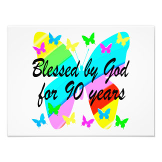BLESSED BY GOD FOR 90 YEARS ART PHOTO