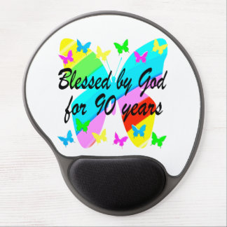 BLESSED BY GOD FOR 90 YEARS GEL MOUSE PAD