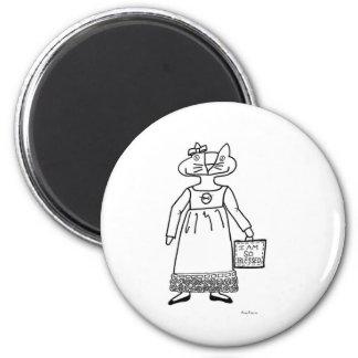 Blessed Cat Folk Art Magnet