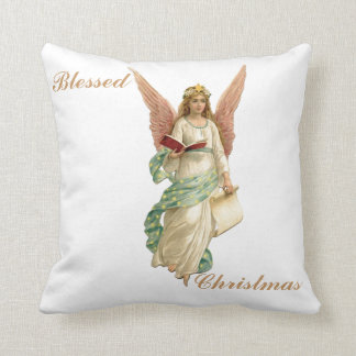 """Blessed Christmas Angel Pillow 16"""""""