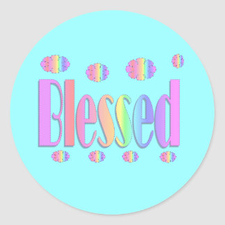 Blessed Classic Round Sticker