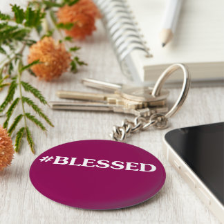 #BLESSED Custamizable Keychain