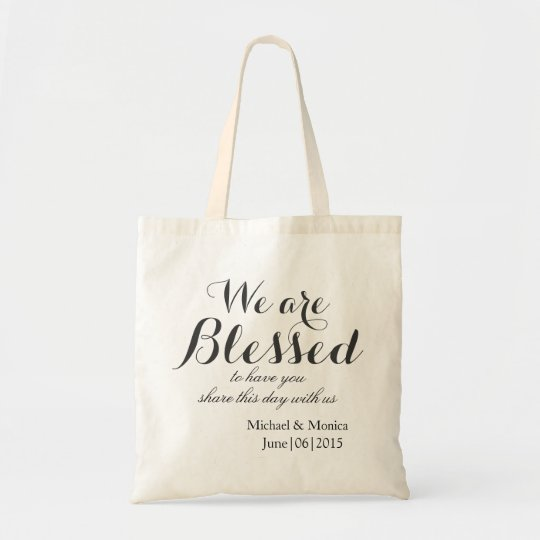 Blessed Custom Wedding Hotel Gift Tote Favour