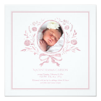 Blessed Event Photo Birth Announcement