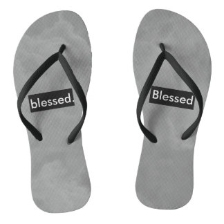 blessed. Full Print Customizable Flip Flops