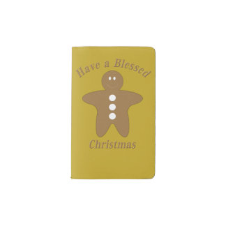 Blessed Gingerbread Man Pocket Moleskine Notebook