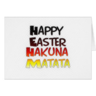 Blessed Happy Easter Hakuna Matata Holiday Season Greeting Card