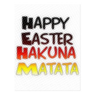 Blessed Happy Easter Hakuna Matata Holiday Season Postcard