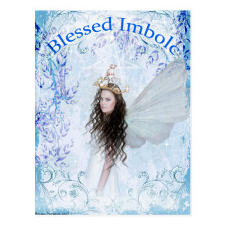 Blessed Imbolc Faerie Postcard