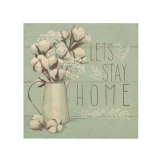 Blessed IV Mint | Lets Stay Home Wood Wall Art