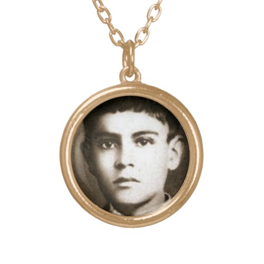 Blessed Jose Sanchez Del Rio Gold Plated Necklace