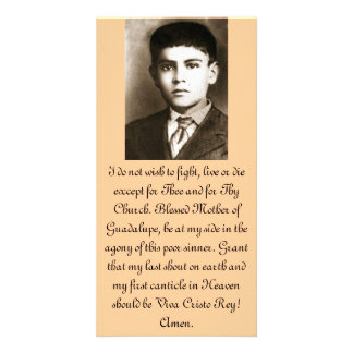 Blessed Jose Sanchez Prayer Cards Personalised Photo Card