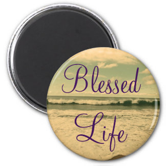 Blessed Life Ocean Waves Photograph Magnet