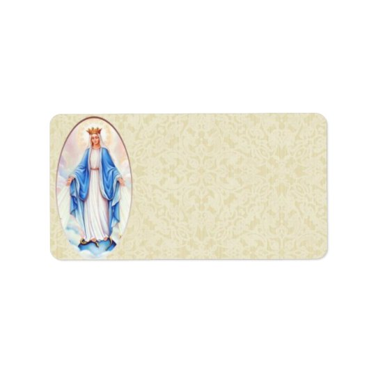 Blessed Mary Address Label