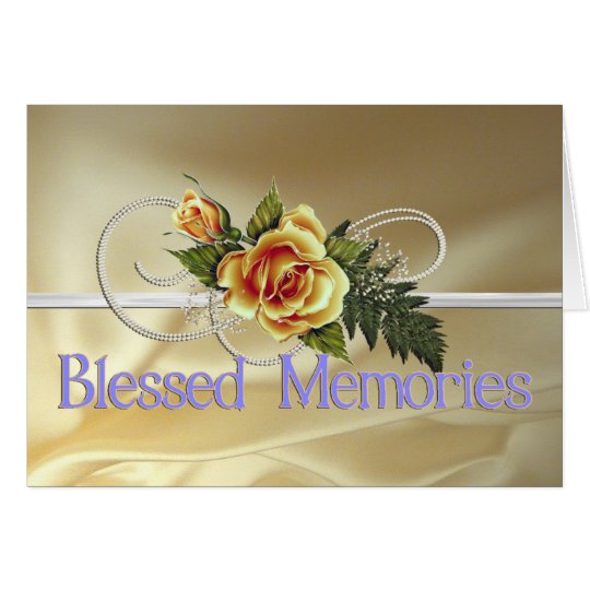 Blessed Memories Mother Sympathy Card