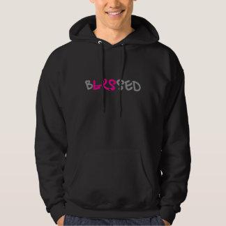 bLESsed mens hoodie/blk front&back Hoodie