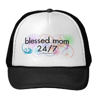 Blessed Mom 24/7 Mesh Hats