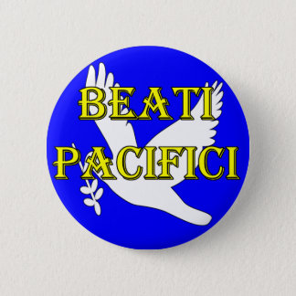 blessed peacemakers white dove button