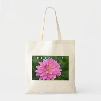 Blessed Pink Dahlia Tote Bag