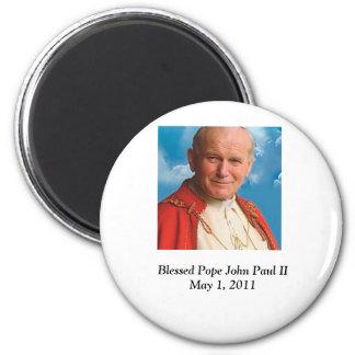 Blessed Pope John Paul II 6 Cm Round Magnet