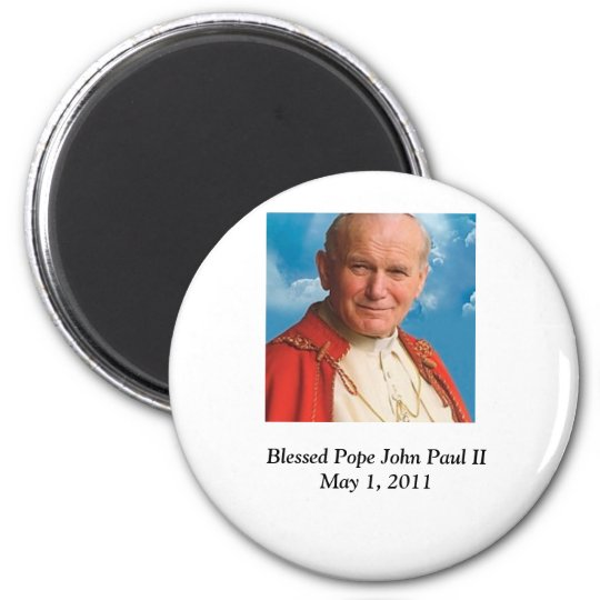 Blessed Pope John Paul II 6 Cm Round