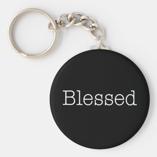 Blessed Quotes Inspirational Faith Quote Key Ring