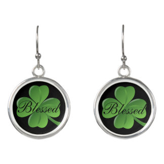 Blessed saint Patrick's Day earrings
