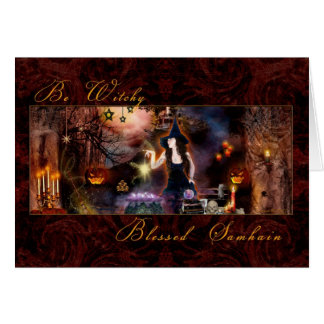Blessed Samhain - Be Witchy - Blank Card