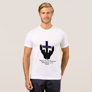 Blessed  The Peacemakers Matthew 5:9 christian Cop T-Shirt