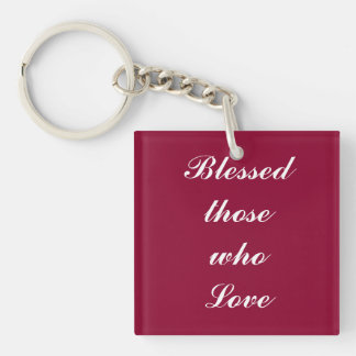 Blessed those who love keychain