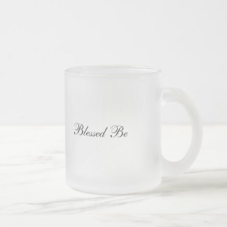 Blessed under the Moon Frosted Glass Coffee Mug
