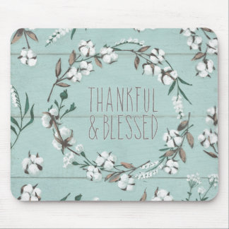 Blessed VI Mint | Thankful & Blessed Mouse Mat