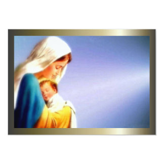 Blessed Virgin Mary and Infant Child Jesus 13 Cm X 18 Cm Invitation Card