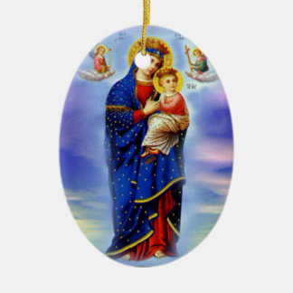 Blessed Virgin Mary and Infant Child Jesus Christmas Ornament