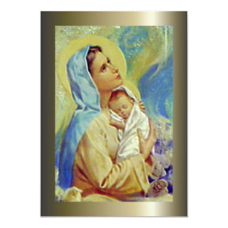 Blessed Virgin Mary and Infant Child Jesus Custom Invitation