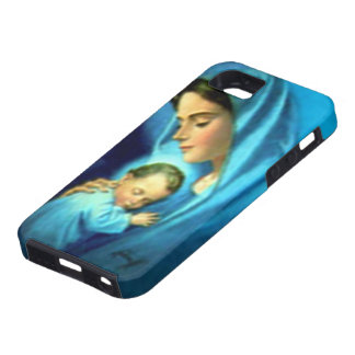 Blessed Virgin Mary and Infant Child Jesus iPhone 5 Covers