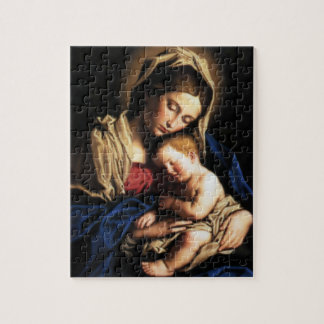 Blessed Virgin Mary and Infant Child Jesus Jigsaw Puzzles