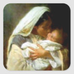 Blessed Virgin Mary and Infant Child Jesus Sticker