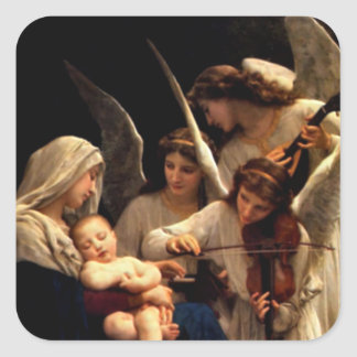 Blessed Virgin Mary and Infant Child Jesus Stickers