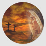 Blessed Virgin Mary Calvary Sticker