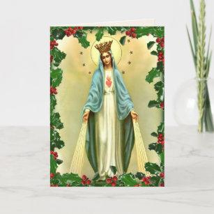 Catholic religious christmas cards zazzle uk blessed virgin mary catholic christmas religious holiday card m4hsunfo
