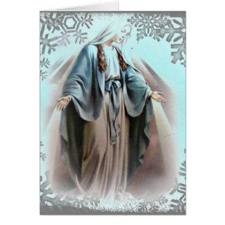 Blessed Virgin Mary Christmas card