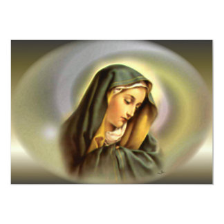 Blessed Virgin Mary in Magnificant Glory 13 Cm X 18 Cm Invitation Card