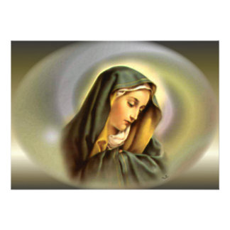 Blessed Virgin Mary in Magnificant Glory Custom Announcements