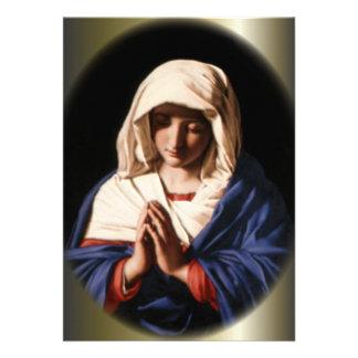 Blessed Virgin Mary in Prayer Custom Invite