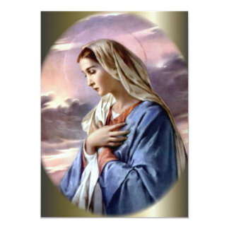 Blessed Virgin Mary in the Desert 5x7 Paper Invitation Card