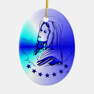Blessed Virgin Mary - Mother of God Ceramic Oval Decoration