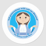 Blessed Virgin Mary Round Stickers
