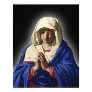 BLESSED VIRGIN MARY SACRED IMAGE PHOTOGRAPH