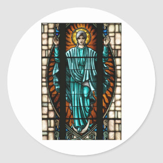 Blessed Virgin Mary Stained Glass Stickers